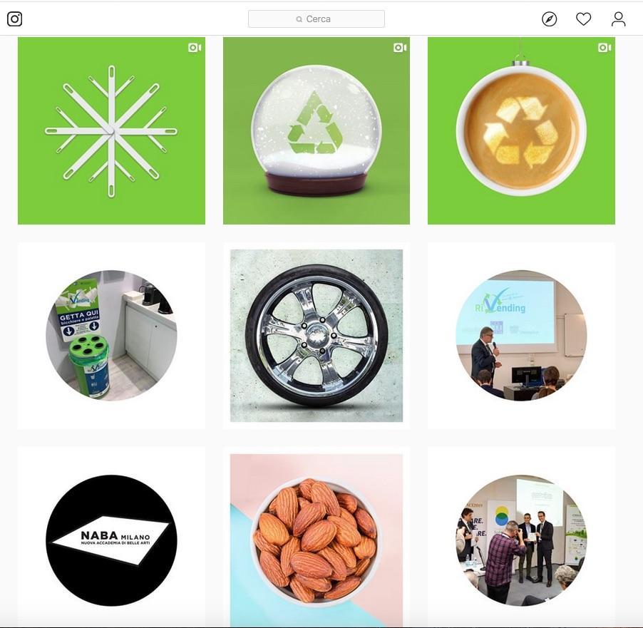 E' on-line il profilo Instagram del Programma RiVending