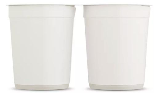Prodotti i primi contenitori da yogurt in polistirolo 100% riciclato